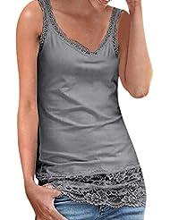 08ed26889 POLP Blusa sin Mangas de Fiesta Mujer Tops Sexy de Remiendo de Playa de  Moda Camiseta