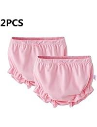 myonly - 2 Bragas Suaves de algodón para bebés y niñas, para niñas de 1 a 3 años Rosa Rosa