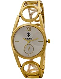 Rabela ® Women's Analogue Silver Dial Watch RAB-858