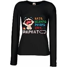 Maniche Lunghe Femminili T-Shirt Baby in My Hose New Baby Gifts New Baby Gifts Boy New Baby Girl Gifts