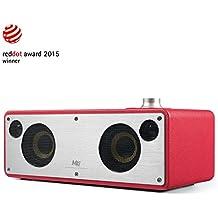 GGMM M3 Retro Altoparlante senza Fili, Wi-Fi / Bluetooth Speaker Stereo con Uscita 40W, Multi-Room Play, Airplay, DLNA, Spotify, iHeart Radio Streaming di Musica i Dispositivi Intelligenti(Rosa)