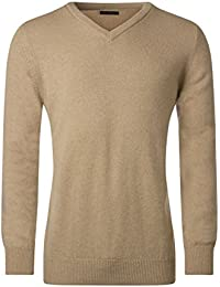 Great and British Knitwear Mens Made in Scotland 100% Lambswool Plain V Neck Pullover