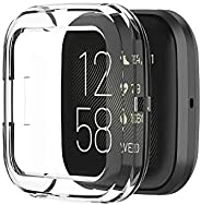 SOLDOUT™ TPU Protective Bumper Case Shell for Fitbit Versa Smart Watch Protector Soft Frame Smartwatch Cover U