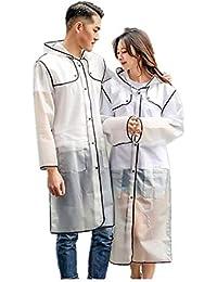 NLR Elegante y de moda del impermeable, ligero con capucha larga ropa impermeable, estilo personal Época de lluvia Ropa, versátil para hombres y mujeres