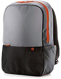 HP 15.6 Duotone Orange Backpack - Mochila para portátiles y netbooks (Negro, Gris, Naranja, Lienzo)