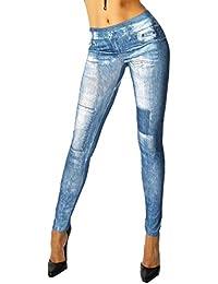 jowiha® Jeans Style Leggings Jeggings Blau Einheitsgröße 34-40
