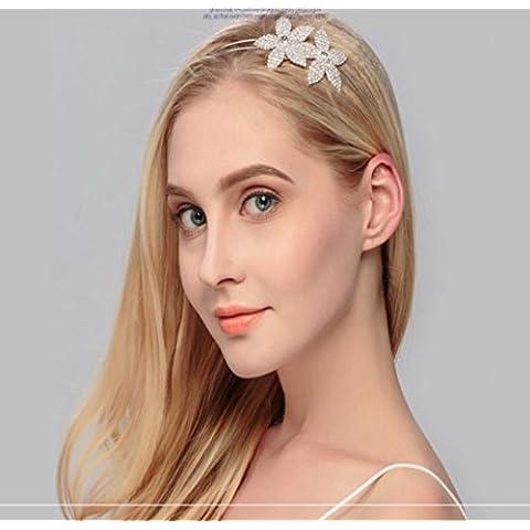 F&HY&L Europei e americani da sposa moda gioielli fiore strass tiara corona cerchietto sposa accessori accessori per capelli