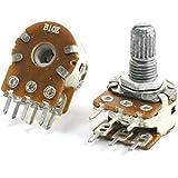 Sourcingmap - Pcb 2pcs b10k 10k ohmios 8mm eje montado doble potenciómetro lineal