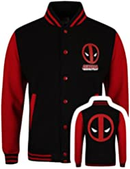 Deadpool Deadpool - Logo Cazadora tipo universitario negro/rojo