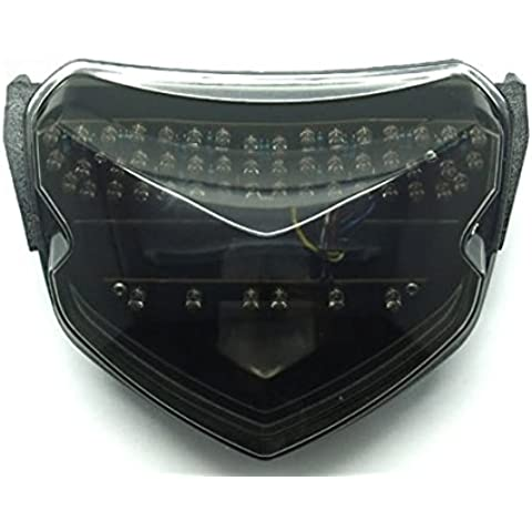 Motorrad Rennsport LED Rücklicht integrierte Lauflampen Bremsleuchten Blinkerleuchten Rückleuchten Rauch Objektiv fit für 2004 2005 Suzuki GSXR600 GSXR750 GSX-R 600 750 K4