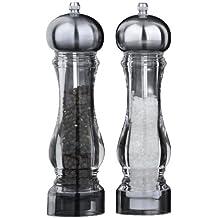 e85519eb67ec06 Peugeot Saveurs 19051 Brasserie duo salière et poivrière sur leur support  Acrylique 11 cm