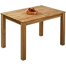 Elegant Esstisch Massivholz Eiche 100% FSC Bonn Esszimmertisch Massivholz Tisch  (110 X 75 X 75
