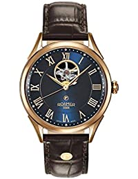 Roamer Men's Automatic Watch with Blue Dial Analogue Display and Brown Leather Strap 550661 49 42 05