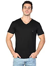 Tee Shirt Emporio Armani Col Rond Manches Longues Noir 5A725
