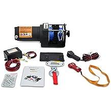 Cabestrante Electrico 12v 1360Kg Cuerda Sintética con Mando a Distancia y Placa de Montaje Winch