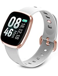 Smart Watch Fitness Tracker Sport watch for Women Men Activity Tracker Bracelet with Heart Rate Monitor Blood Pressure Waterproof Full Touch Screen for Android & iPhone