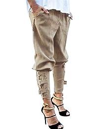 bd0b6dc05eb45 Pantalon Carotte à Boucle Femme Grande Taille,OverDose Été Pantalons Fuselé  Jogging Longue Casual Trousers Slim Taille Haute…