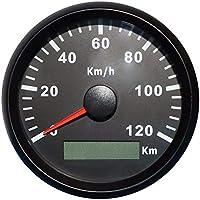 GPS Geschwindigkeitsmesser, Velometer, 120 km/h, für Motorrad, Yachten, mit Hintergrundbeleuchtung, 8,5 cm, 12V/24V