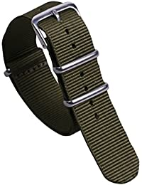 ocio estilo militar verde de la NATO nylon balístico reloj de reemplazo de la correa de banda de 20 mm ejército para los hombres
