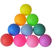Nicedier-Tech Color Balls, Plastic Table Tennis Ball,Multiple-functional Frosted Balls 12pcs