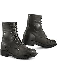 TCX mezcla resistente al agua señoras piel botas de motocicleta, marrón
