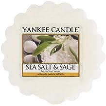 Yankee Candle Sea Salt & Sage Tart da Fondere, Cera, Bianco, 5.7 x 5.7 x 1.7 cm