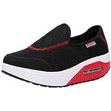Zapatillas para Mujer,Mujeres Malla Casual Zapatos de Suela Gruesa colchón de Aire Zapatillas Mujer