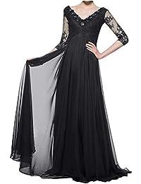 Abendkleider lang schwarz mit spitze