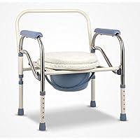 SCZLSYL Silla de asiento de las mujeres embarazadas mayores discapacitados plegable inodoro mudanza silla de inodoro