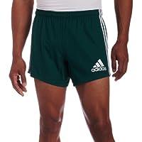 Adidas Teamwear 3 Stripe Shorts de Rugby Caballero, Verde/Blanco, XL