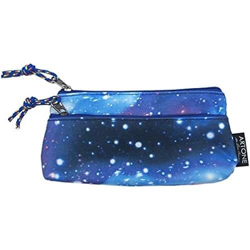 juguetes kawaii Artone Gran Capacidad Universo Galaxia Estuche Bolso De La Pluma Pounch Azul