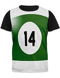 Old Glory Halloween Billard Pool vierzehn Ball Kostüm Mens Black Back T  Shirt dca574c18