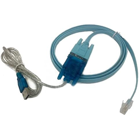 HDE USB to Serial Interface Cable with Serial to RJ45 Console Adapter Cable for Cisco Routers, [Importado de Reino