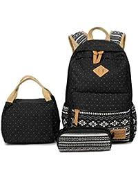 TTD Bolsas de escuela Mochila Set Teen Girls Bookbag con bolsa de almuerzo y estuche de