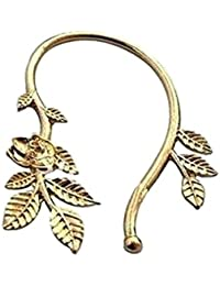 Crunchy Fashion Rose Flower Leaves Ear Cuff(This is sold in single piece)