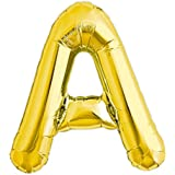 Globo gigante de helio con adhesivos letra A