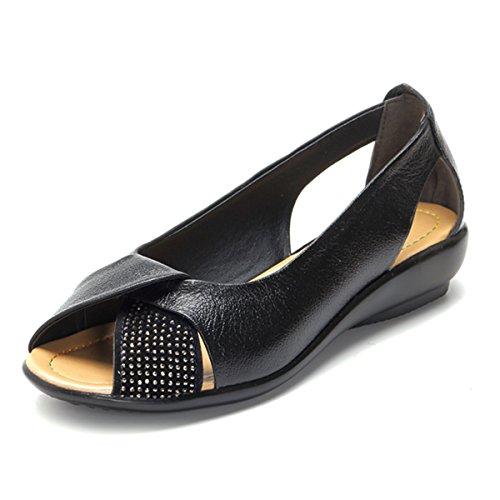 open toe ballet pumps