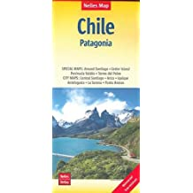Nelles Map Landkarte Chile - Patagonia: 1:2500000 | reiß- und wasserfest; waterproof and tear-resistant; indéchirable et imperméable; irrompible & impermeable