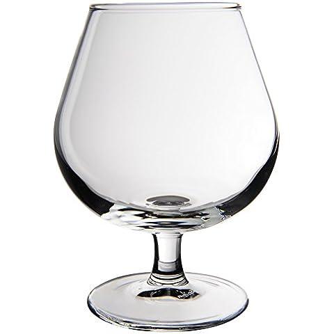 Novastyl 8013650Bourbon–Lote de 2vasos de pie de capacidad, cristal transparente, 17,7x 9x 12,5cm 30cl