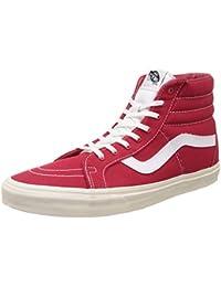 01fd869c9a Vans Unisex SK8-Hi Reissue 10 Oz Canvas Dress Blues and Marshmallow Sneakers  - 12