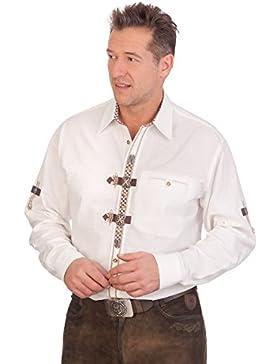 H1638 - Trachtenhemd mit langem Arm - weiß