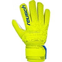 Reusch - Guanti da Portiere per Bambini Fit Control SD Open Cuff, Bambini, 3972515, Lime/Safety Yellow, 8