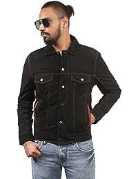 BARESKIN Men's Soft Suede Black Leather Jacket