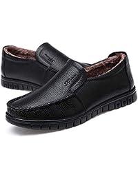 Los Zapatos de Cuero Suave de los Hombres Usan Zapatos Casuales de otoño e Invierno Caminatas