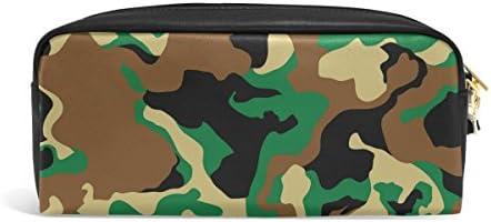 Zzkko Woodland Camouflage Fermeture Éclair en cuir Trousse Stylo papeterie Sac Cosmétique Maquillage Sac pochette Sac à main B078Y7BHC8 | Sale Online