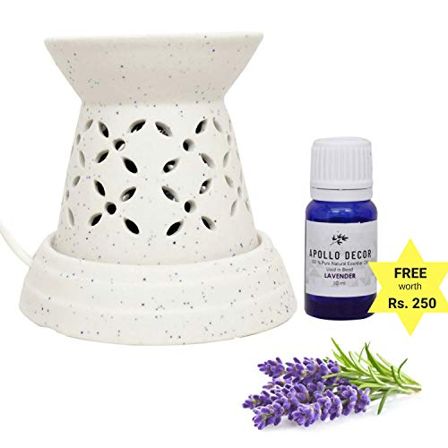 [Sponsored]Apollo Décor Electric Oil Diffuser, Free Aroma Oil,10ml (Tower Shaped Diffuser With Lavender Essential Oil)