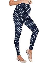 b6c8dbae2 PAOLIAN Premamá Pantalones para Embarazadas Leggins Maternidad Largo Mujer  Cintura Altos Elástica Ropa Premama Moderna Lunares
