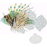 Gosear Silicón Colorido Pez León de Flotante Que Brilla Intensamente / Ornamentos de Jardinería Peces Artificiales