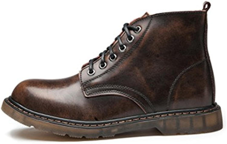 Xiazhi-scarpe, Scarpe da Uomo Classic Leather Lace Up Up Up Oxfords High Top Stivaletti per gentiluomini (Coloree   Marronee... | Qualità  | Uomo/Donna Scarpa  d8d843