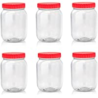 Sunpet Large Red Top Plastic Food Storage Canister Size 1000 ml by Sunpet